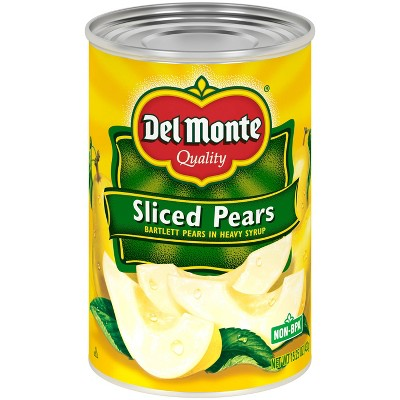 Del Monte Bartlett Pear Slices in Heavy Syrup - 15.25oz