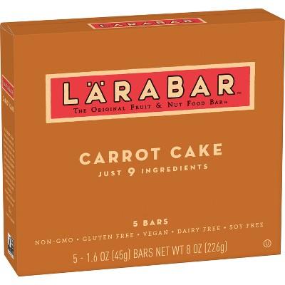 Larabar Carrot Cake The Original Fruit & Nut Food Bars - 8oz