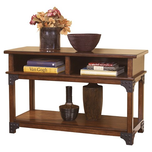 Murphy Console Sofa Table Medium Brown Signature Design By Ashley