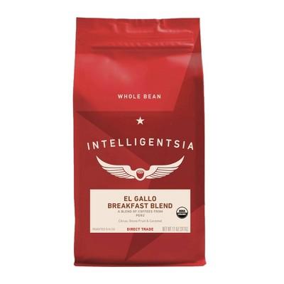 Intelligentsia Direct Trade Organic El Gallo Breakfast Blend Medium Roast Whole Bean Coffee - 11oz