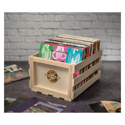 Exceptionnel Crosley Record Storage Crate Wooden : Target
