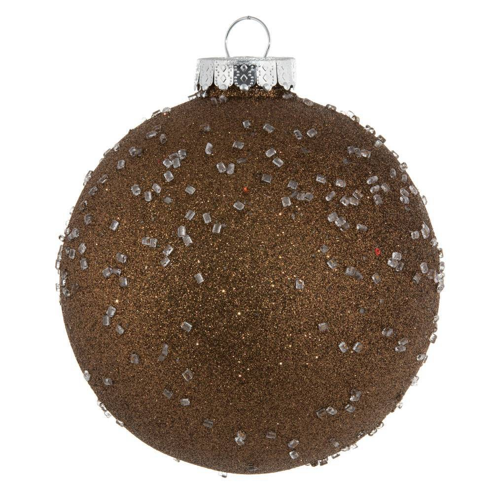 "Image of ""4ct Vickerman 6"""" Ornament Ball Mocha Ice"""