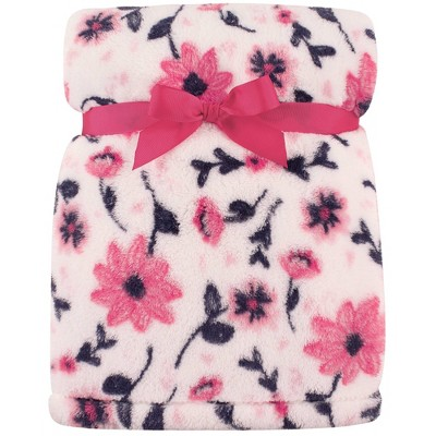 Hudson Baby Unisex Baby Super Plush Blanket - Modern Floral One Size