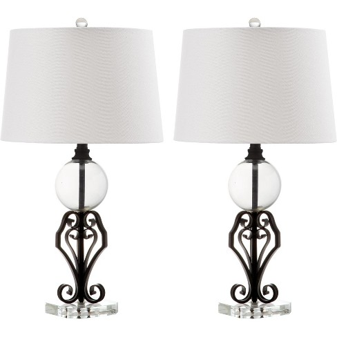 Table Lamp - Black/White/Clear - Safavieh® - image 1 of 4