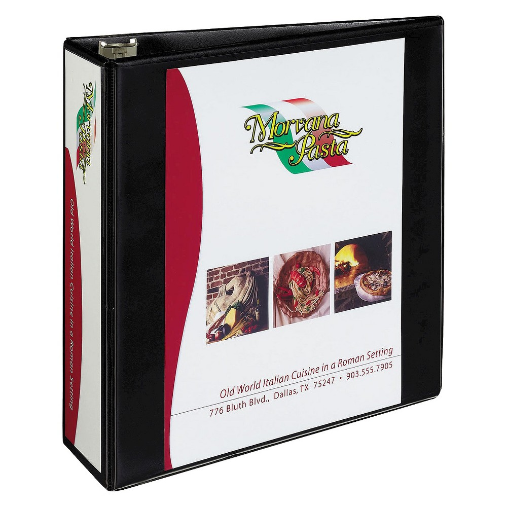 Avery 3 Heavy-Duty NonStick View Binder with One Touch Slant Rings - Black