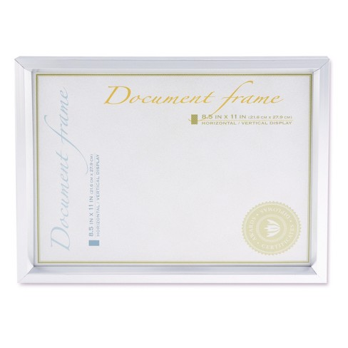 Universal® Plastic Document Frame, for 8 1/2 x 11, Easel Back, Metallic Silver - image 1 of 4