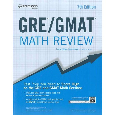 Gre/GMAT Math Review - (Peterson's GRE/GMAT Math Review) 7 Edition  (Paperback)