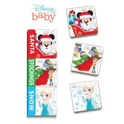 Disney Baby Santa, Stockings, Snow - (Board Book)