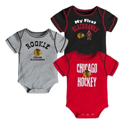 Chicago Blackhawks Boys' Game Winner 3pk Body Suit Set 3-6 M