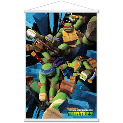 Trends International Nickelodeon Teenage Mutant Ninja Turtles - Attack Unframed Wall Poster Print