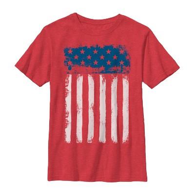 Boy's Lost Gods Fourth of July  Streak American Flag T-Shirt