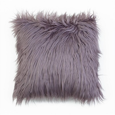 Keller Faux Mongolian Reverse To Micromink Throw Pillow - Décor Therapy