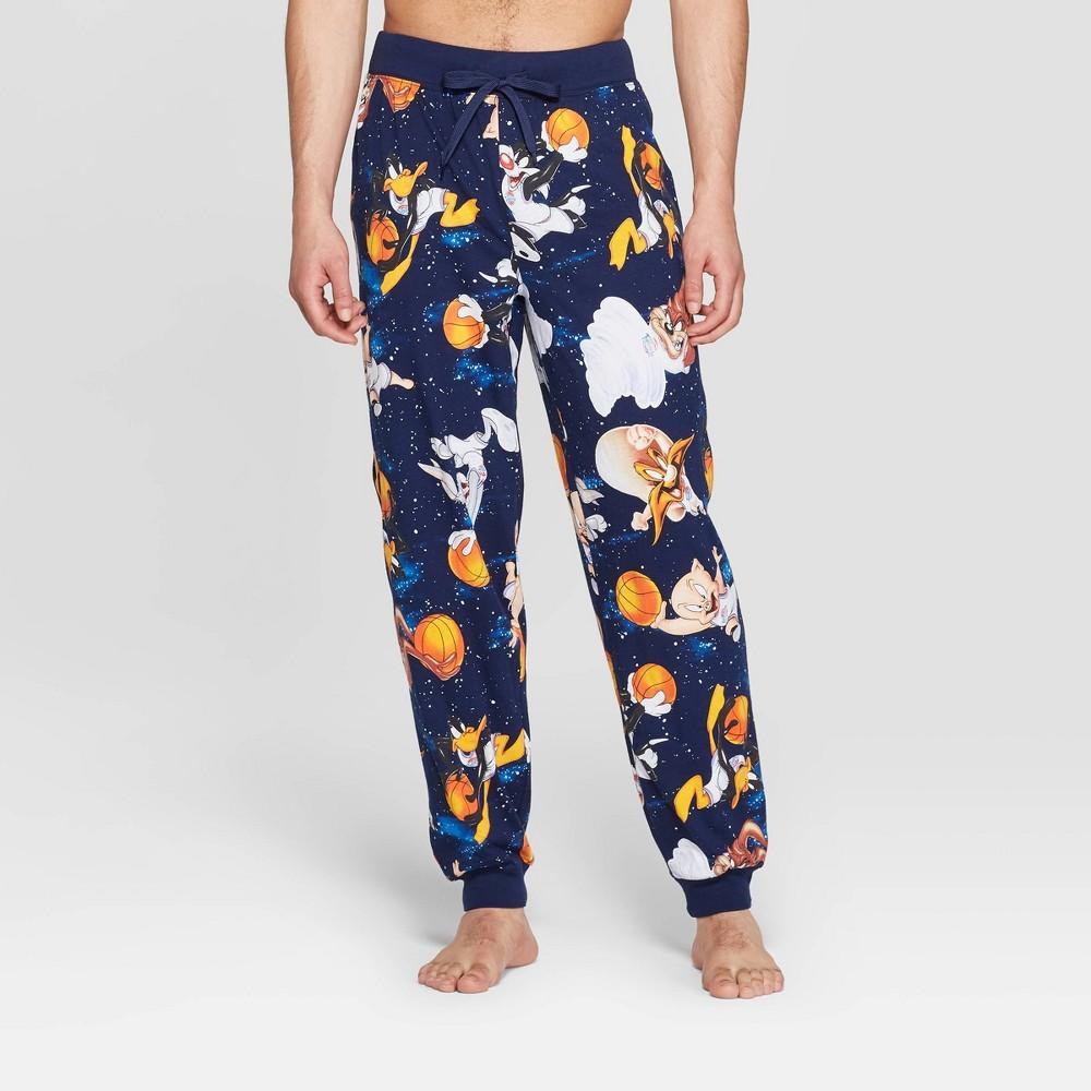 Men's Space Jam Jogger Pajama Pants - Navy L, Blue