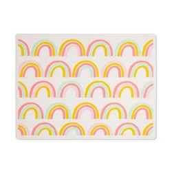 Silicone Place Mat with Decal-Rainbow Silk Screen - Cloud Island™