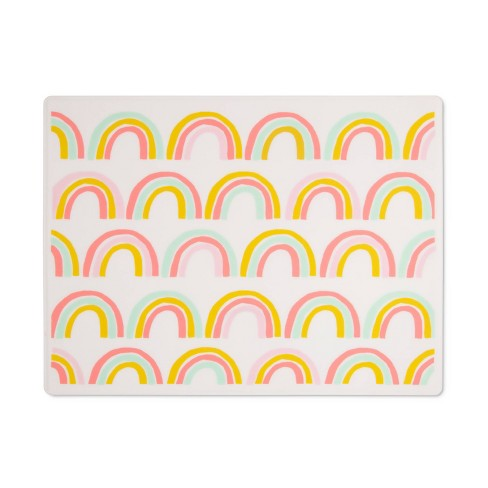 Silicone Place Mat with Decal-Rainbow Silk Screen - Cloud Island™ - image 1 of 2