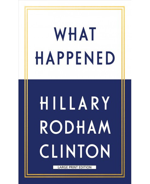 What Happened -  Large Print by Hillary Rodham Clinton (Hardcover) - image 1 of 1