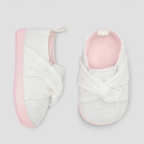Baby Girls' Eyelet Slip on Sneakers - Cat & Jack™ White - image 1 of 1