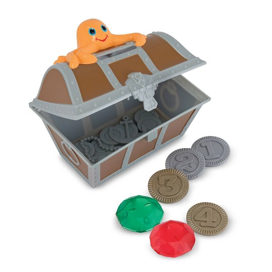 Melissa & Doug Sunny Patch Undersea Treasure Hunt Pool Game with Floating Chest & 6 Treasure Piece Set image number null