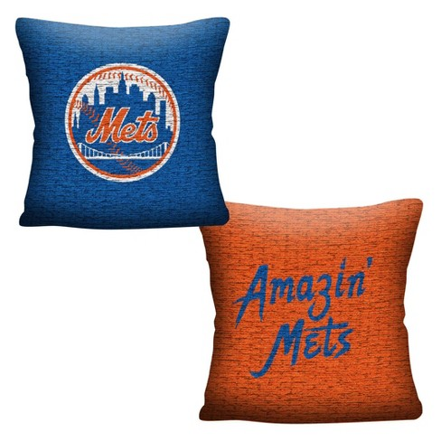 MLB New York Mets Inverted Woven Pillow - image 1 of 4