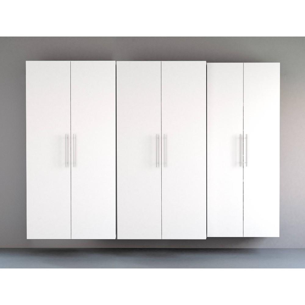"Image of ""102"""" Hangups with 3 Storage Cabinet Set White - Prepac"""
