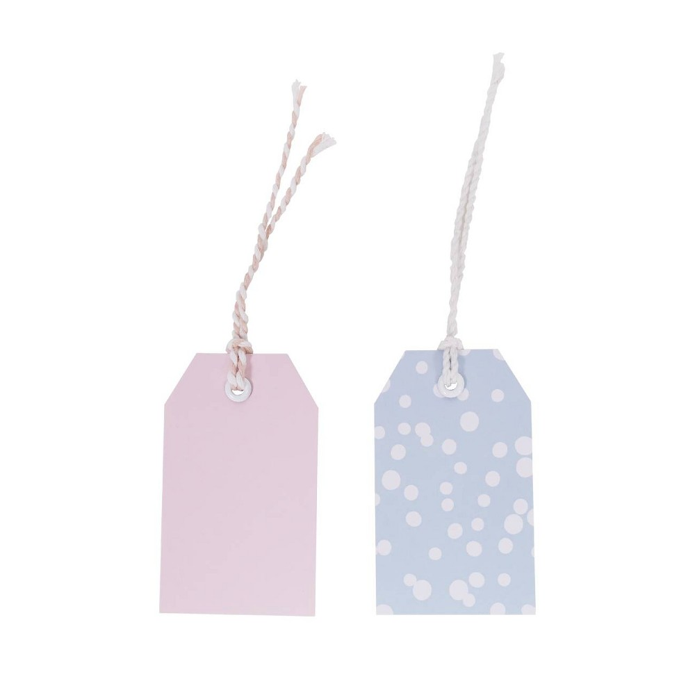 Image of Gift Tag Pink/Blue - Spritz