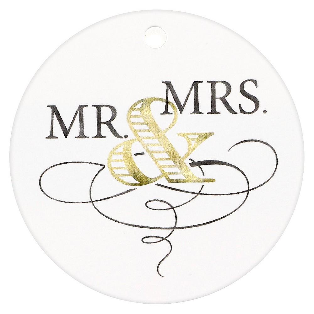 """Image of """"25ct """"""""Mr & Mrs"""""""" Elegance Favor Tags Gold"""""""