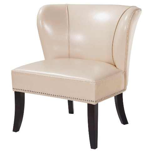 Hilton Concave Back Armless Chair - Ivory - image 1 of 6