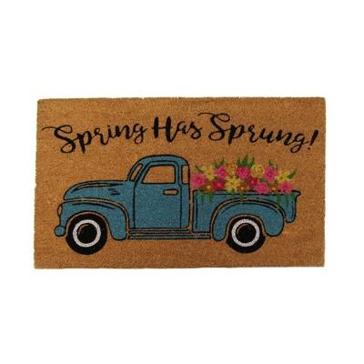 "Farmhouse Living Spring Has Sprung Farm Truck Coir Doormat - 18"" x 30"" - Natural - Elrene Home Fashions"