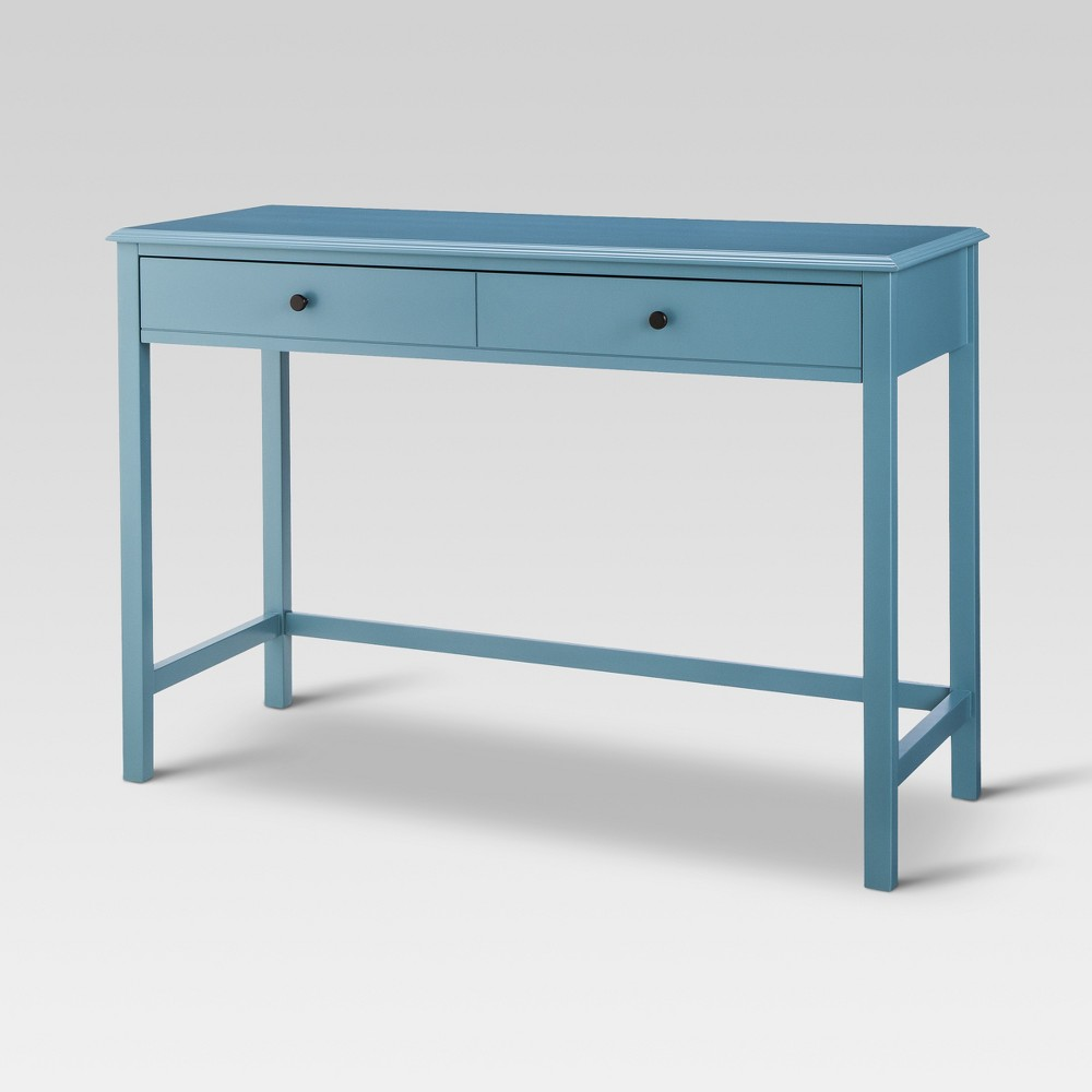 Windham Wood Writing Desk with Drawers Teal - Threshold Cheap
