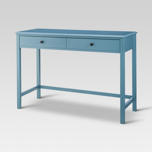 Windham Wood Writing Desk with Drawers Teal - Threshold™ - image 1 of 3