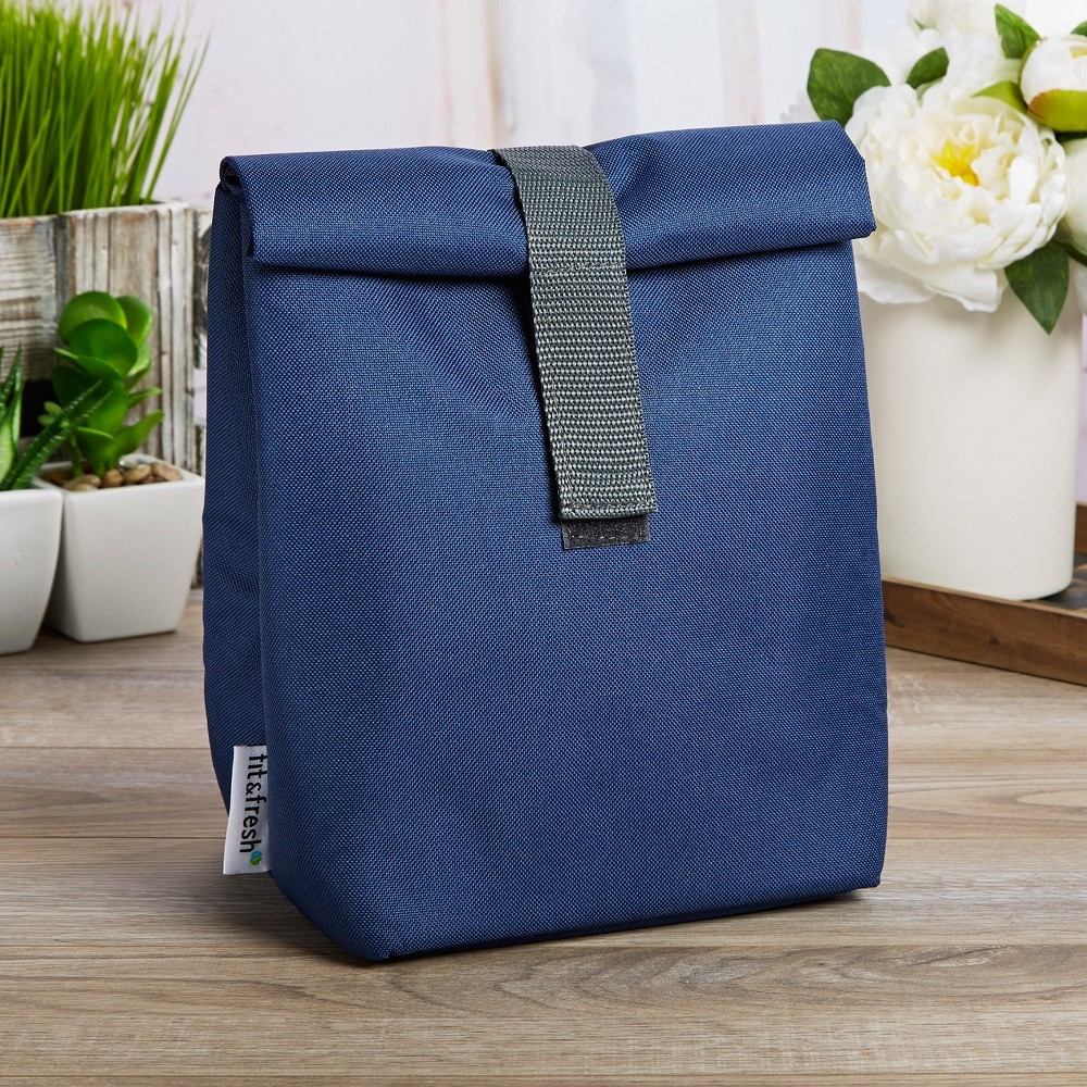 Image of Fit & Fresh Franconia Insulated Lunch Bag - Navy Blue