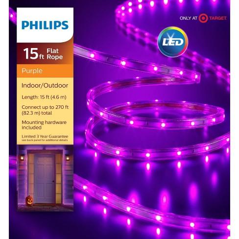 Philips 135ct LED Halloween Flat Rope Lights Purple - image 1 of 3