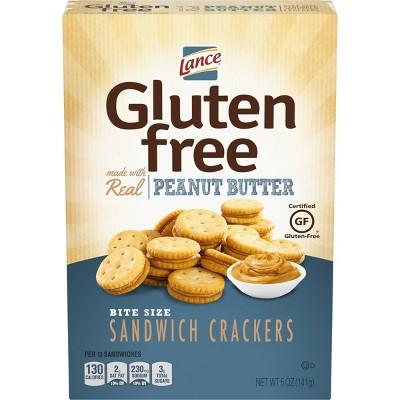 Lance Real Peanut Butter Bite Size Sandwich Crackers - 5oz