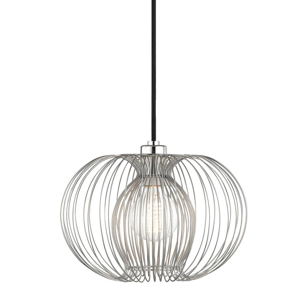 Jasmine 1-Light Small Pendant Chandelier Brushed Nickel - Mitzi by Hudson Valley Best