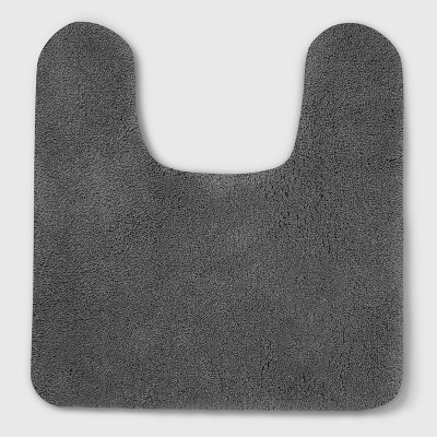 Perfectly Soft Nylon Solid Contour Bath Rug Pigeon Gray - Opalhouse™