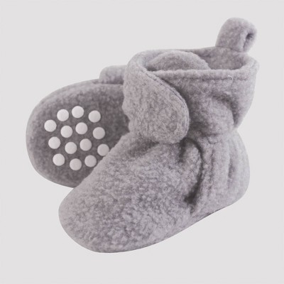 Luvable Friends Baby Fleece Lined Scooties - Heather Gray 0-6M