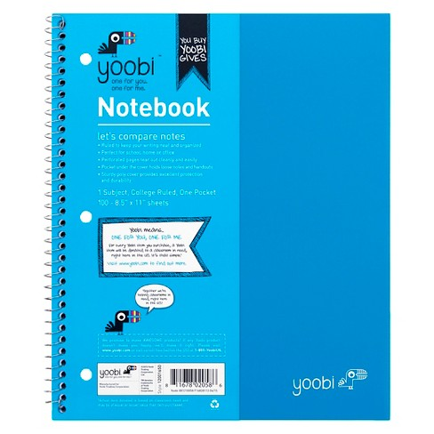 Yoobi™ Spiral Notebook 1 Subject College Ruled - image 1 of 3