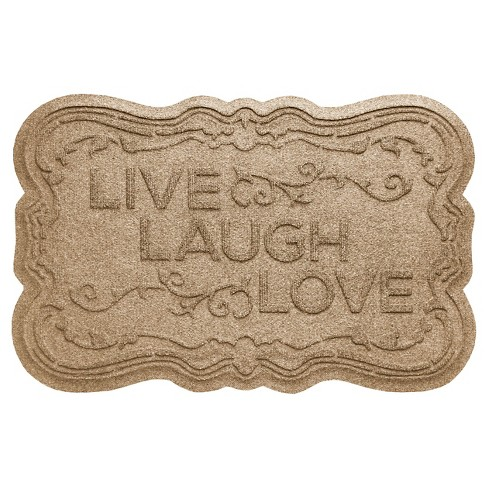 Bungalow Flooring Aqua Shield Live, Laugh, Love Floormat - image 1 of 2