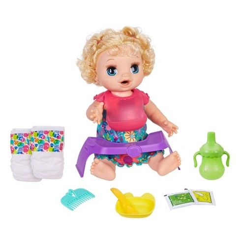 Baby Alive Happy Hungry Baby Doll - Blonde Curly Hair - image 1 of 4