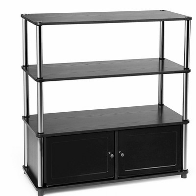 """Highboy TV Stand for TVs up to 42"""" Black - Breighton Home"""