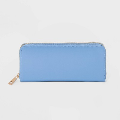 Women's Zip Closure Wallet - A New Day™ Blue