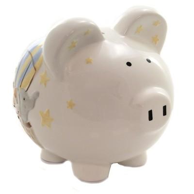"""Bank 7.5"""" Air Balloon Bank Stars Moon Animals  -  Decorative Banks"""