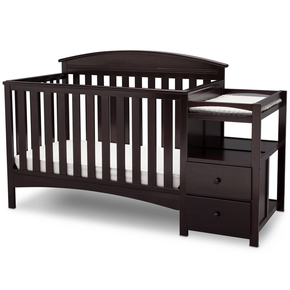Image of Delta Children Abby Convertible Crib and Changer - Dark Chocolate
