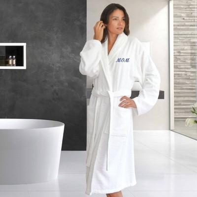 L/XL Mom Bathrobe White - Linum Home textiles