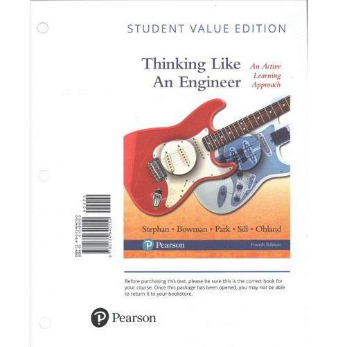 Thinking Like an Engineer : An Active Learning Approach (Paperback) (Elizabeth A. Stephan & David R. - image 1 of 1