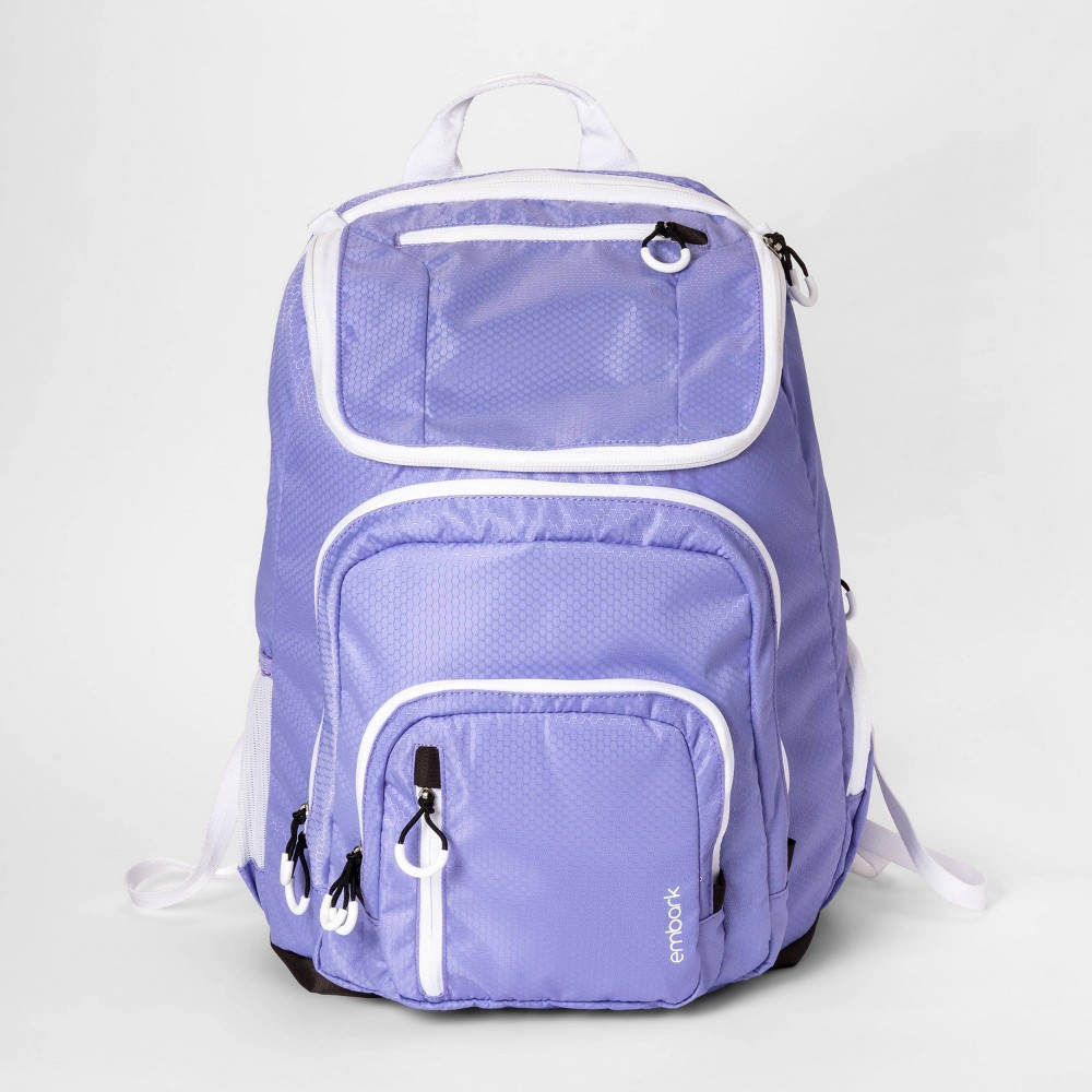 "Image of ""19"""" Jartop Elite Backpack Lilac/White - Embark , Size: Large, Purple"""