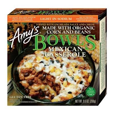 Amy's Light in Sodium Organic Mexican Casserole Frozen Bowl - 9.5oz