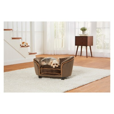 Enchanted Home Pet Ultra Plush Snuggle Dog Sofa   Mink Brown