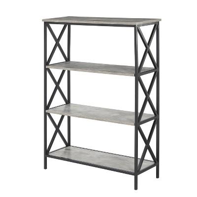 Tucson 4 Tier Bookshelf Faux Birch White - Johar Furniture