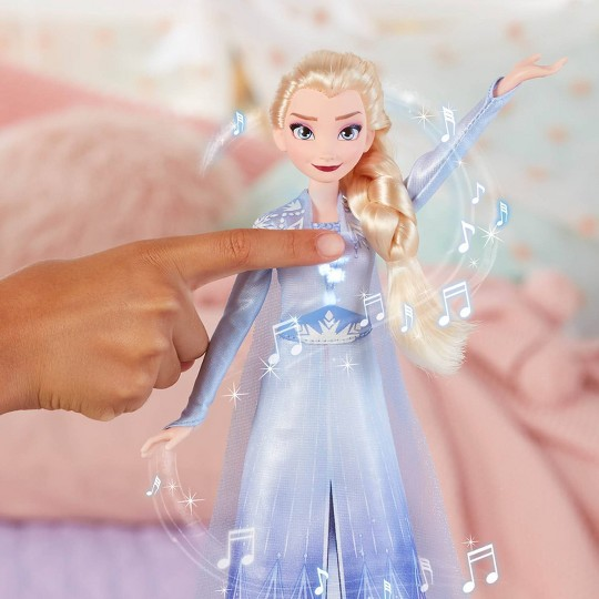 Disney Frozen 2 Singing Elsa Fashion Doll with Music - Blue image number null